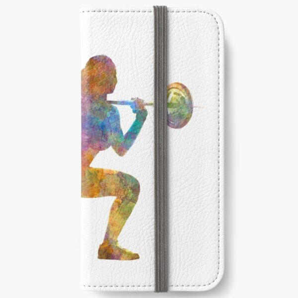 Body building woman isolated iPhone Wallet