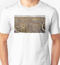 Perspective map of Fort Worth, Texas - 1891 T-Shirt
