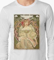 Alphonse Mucha - Champagne 1897  Long Sleeve T-Shirt
