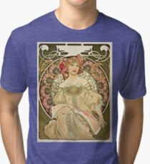 Alphonse Mucha - Champagne 1897  Tri-blend T-Shirt