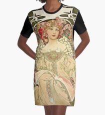 Alphonse Mucha - Champagne 1897  Graphic T-Shirt Dress