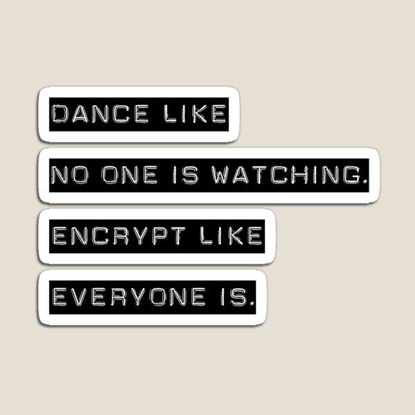 Encrypt like everyone is watching (B&W BG) Magnet