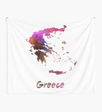 Greece in watercolor Wall Tapestry