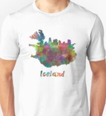 Iceland in watercolor T-Shirt