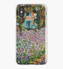 Claude Monet - Irises In Monet S Garden  iPhone Case/Skin