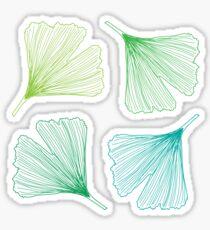 Ginkgo Leaves_color Sticker