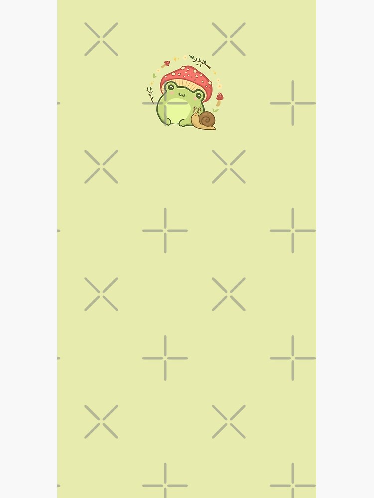 Cottagecore Aesthetic Cute Vintage Frog and Snail by MinistryOfFrogs