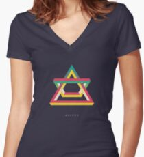 ASCEND Women's Fitted V-Neck T-Shirt
