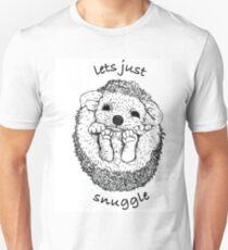 Hedgehog snuggle Unisex T-Shirt