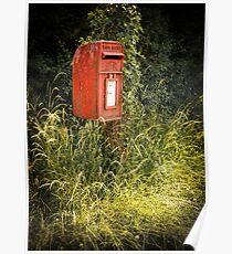 English Royal Mail postbox Poster