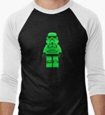 Luminous Green Lego Storm Trooper Men's Baseball ¾ T-Shirt