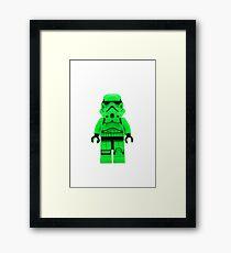 Luminous Green Lego Storm Trooper Framed Print