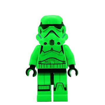 Luminous Green Lego Storm Trooper by EllLang