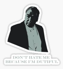 Don't Hate Dutiful Carson Sticker