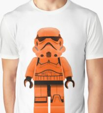 Orange Lego Storm Trooper Graphic T-Shirt