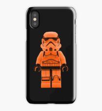 Orange Lego Storm Trooper iPhone Case/Skin