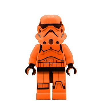 Orange Lego Storm Trooper by EllLang