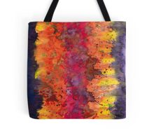 Abstract Purple Yellow Fire Tote Bag