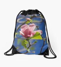 Pink Italian Flower  Drawstring Bag