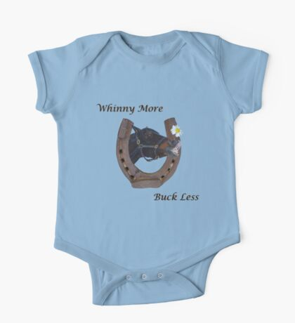Whinny More, Buck Less! Horse Kids Clothes