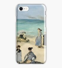 Edouard Manet - On the Beach, Boulogne sur Mer (1868)  iPhone Case/Skin
