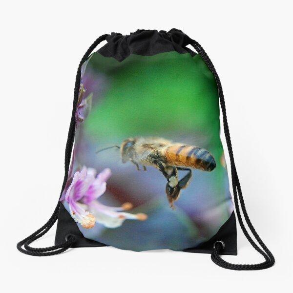 Bee on Basil Drawstring Bag