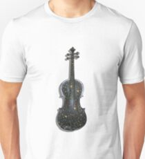 Old Violin with painted symbols T-Shirt