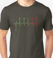 Motorcycle Shifting Gears Life Line Heartbeat Six Speed Rev Tee Shirt Unisex T-Shirt