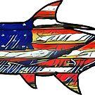 USA Flag Tarpon  by Statepallets