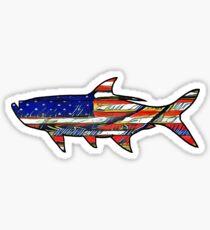 USA Flag Tarpon  Sticker