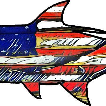 Tarpon de bandera de Estados Unidos de Statepallets