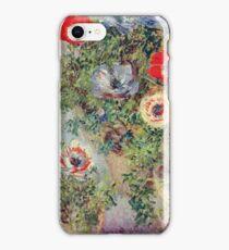 Claude Monet - Stilll Life With Anemones iPhone Case/Skin