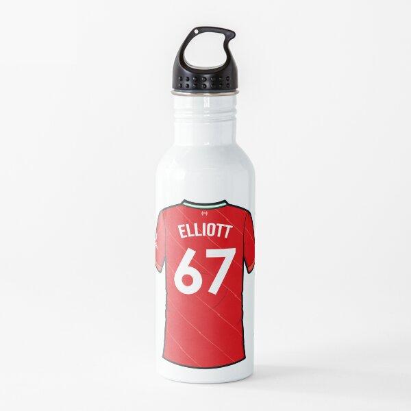Harvey Elliott 67 Liverpool Home Shirt Jersey Squad 2021 - 2022 Water Bottle
