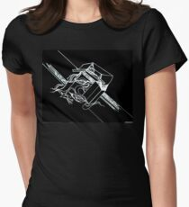 Multi Dimensional Abstract Ink Inverted Women's Fitted T-Shirt