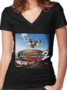 Tony Hawk Pro Sk8er 2 Women's Fitted V-Neck T-Shirt