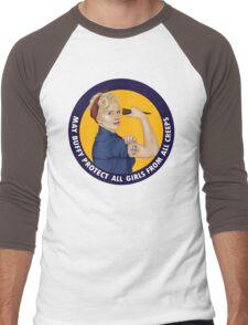 Buffy, the riveter. MAY BUFFY PROTECT YOU Men's Baseball ¾ T-Shirt