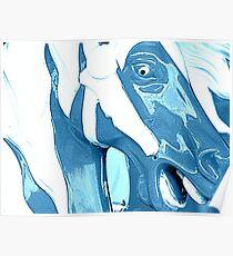 Wild Blue Horsey Poster