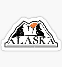 Alaska mountains Sticker