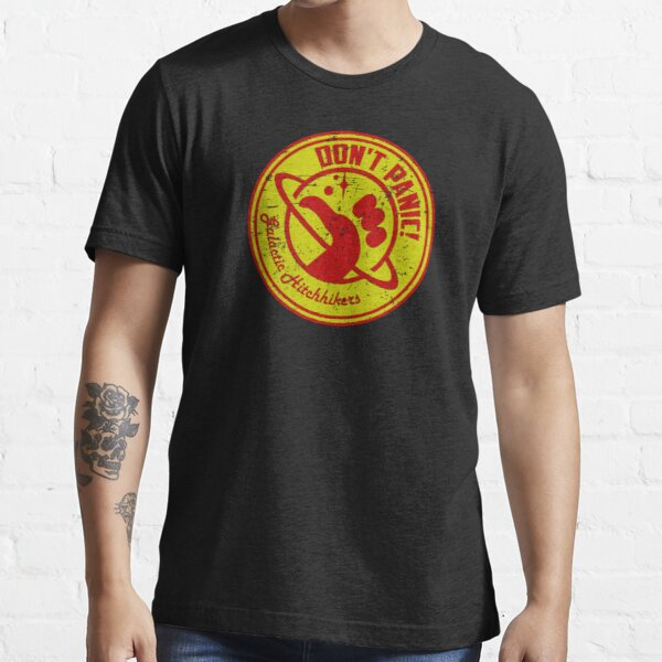 Galactic Hitchhikers Red and Gold Essential T-Shirt