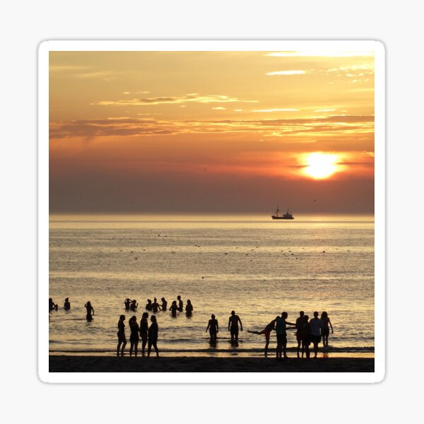 Sunset Texel  Sticker