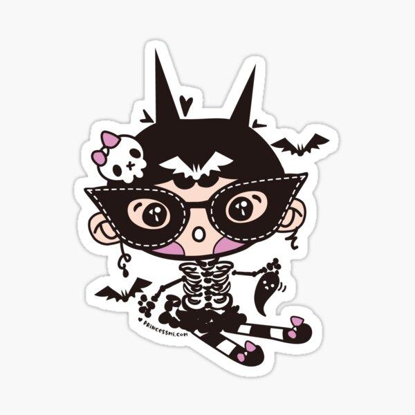 cute halloween whimsical cute girl illustration Sticker