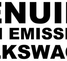 Genuine High Emissions Volkswagen Sticker