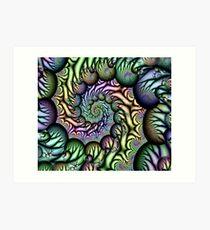 Psycho Spiral Art Print