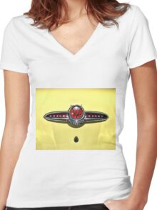 Buick roadmaster Women's Fitted V-Neck T-Shirt
