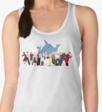 NO BACKGROUND Even More Minimalist Robin Williams Character Tribute Women's Tank Top