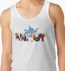 NO BACKGROUND Even More Minimalist Robin Williams Character Tribute Tank Top