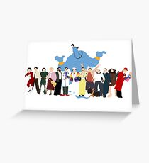 NO BACKGROUND Even More Minimalist Robin Williams Character Tribute Greeting Card