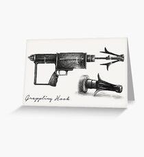 Grappling Hook Schematics  Greeting Card