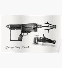 Grappling Hook Schematics  Poster