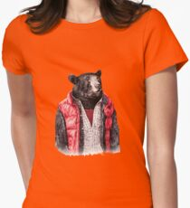 Black Bear Womens Fitted T-Shirt